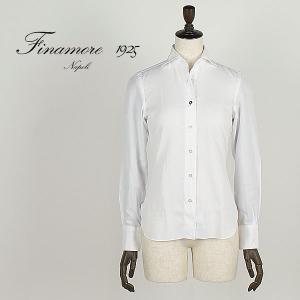 セール 国内正規品 FINAMORE フィナモレ レディース セミワイドカラー コットンシャツ LUIGI ルイージ 840200 (ホワイト)special priceAM|laglagmarket