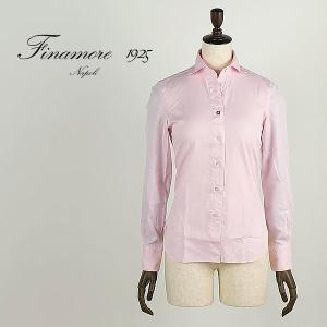 セール 国内正規品 FINAMORE フィナモレ レディース セミワイドカラー コットンシャツ LUIGI ルイージ 840200 (ピンク)special priceAM|laglagmarket