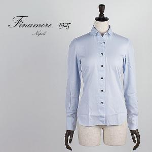セール 国内正規品 FINAMORE フィナモレ レディース コンパクトカラー コットンシャツ GIULIA ジュリア 840200 (サックス)special priceAM|laglagmarket