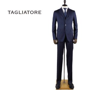 国内正規品 即日発送 TAGLIATORE タリアトーレ メンズ SUPER110'S ヴァージンウール 3B シングル スーツ 2SVS23B01 06UIZ152 I3193 (ネイビー)|laglagmarket