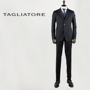 国内正規品 即日発送 TAGLIATORE タリアトーレ メンズ SUPER110'S ヴァージンウール 3B シングル スーツ 2SVS23B01 06UIZ152 N3191 (ブラック)|laglagmarket