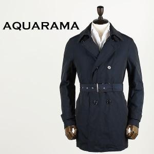 AQUARAMA アクアラマ メンズ 薄中綿入り トレンチコート 81154/Q105/800 (ネイビー)special priceBM|laglagmarket