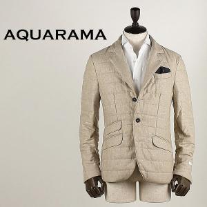 AQUARAMA アクアラマ メンズ 薄中綿入り カシミア 3B シングルジャケット 82644/Q132/220 (サンド)  special priceBM|laglagmarket