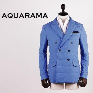 AQUARAMA アクアラマ メンズ 薄中綿入り セミピークドラペル ダブルジャケット 82914/Q115/750 (ブルー)special priceBM|laglagmarket