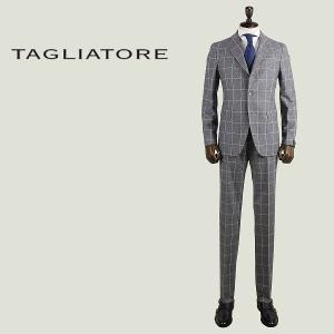 TAGLIATORE タリアトーレ メンズ ウール ウインドーペーン 3B シングル スーツ 2SVS23B01 07WIZ094 G3314 (グレー) special priceAM|laglagmarket