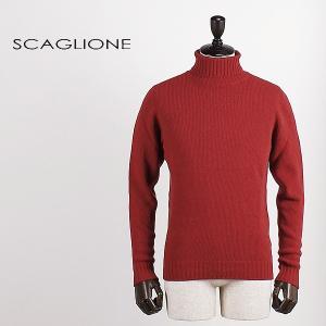 セール 国内正規品 SCAGLIONE スカリオーネ メンズ ウールカシミア タートルネックニット U3B043 187 (レッド)special priceBM laglagmarket