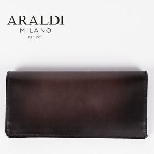国内正規品 即日発送 ARALDI 1930(アラルディ) タンポナート レザー 2つ折り長財布 ARBP285 TAMPONATO NUV (ウッド)|laglagmarket