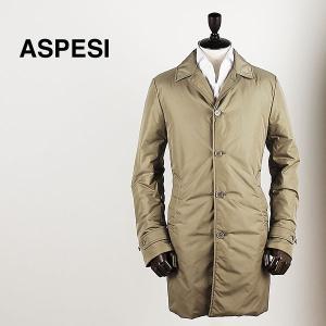 ASPESI アスペジ メンズ 中綿入り ナイロン ステンカラーコート 5116/7954/85 090 (ベージュ)special priceAM|laglagmarket