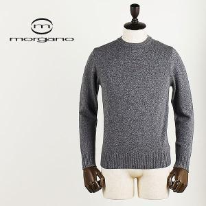 MORGANO モルガーノ メンズ ウールカシミヤ ミドルゲージニット クルーネックセーター 512113/6461 (グレー)special priceBM|laglagmarket