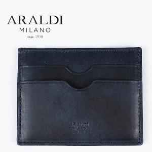 国内正規品 即日発送 ARALDI 1930(アラルディ) タンポナート レザー カードケース PX334 TAMPONATO NUVOL(ダークナイト)|laglagmarket