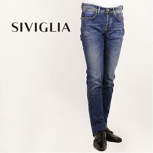 国内正規品 即日発送 SIVIGLIA シヴィリア/シビリア 5ポケット ストレッチ テーパードデニム 222J/S998/6002/18 (ブルー)|laglagmarket