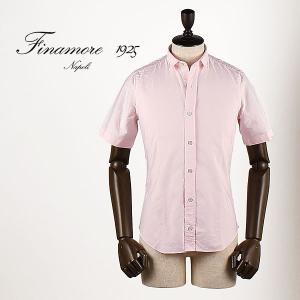 セール 国内正規品 FINAMORE フィナモレ メンズ スモールカラー コットン ショートスリーブシャツ SILVANO GIGLIO 980080 (ピンク)special priceAM|laglagmarket