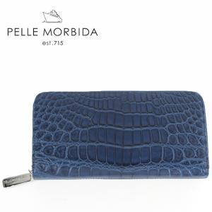 PELLE MORBIDA ペッレモルビダ クロコダイルレザー ラウンドジップ 長財布 PMO-CRS005EC BLU (ブルー)レビューを書いて送料無料|laglagmarket
