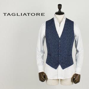 TAGLIATORE タリアトーレ メンズ 5B リネン ネップ混 ストライプ シングルジレ BRIAN/F 85REG018 B1186 (ネイビー)special priceBM|laglagmarket