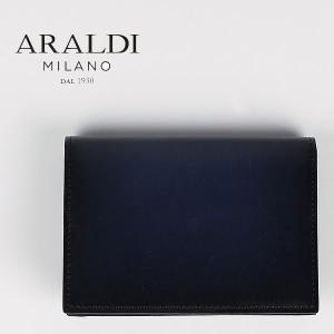国内正規品 即日発送 ARALDI 1930 アラルディ メンズ タンポナート レザー カードケース PX334 TAMPONATO FRAME DK.NIGHT (ダークナイト)|laglagmarket