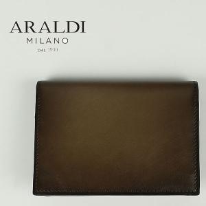 国内正規品 即日発送 ARALDI 1930 アラルディ メンズ タンポナート レザー カードケース PX334 TAMPONATO FRAME FANGO (カーキ)|laglagmarket