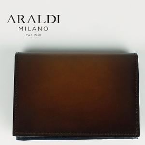 国内正規品 即日発送 ARALDI 1930 アラルディ メンズ タンポナート レザー カードケース PX334 TAMPONATO FRAME TAN (ブラウン)|laglagmarket