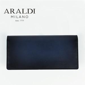 国内正規品 即日発送 ARALDI 1930(アラルディ)タンポナート レザー 2つ折り長財布 ARBP285 TAMPONATO DK.NIGHT (ダークナイト)|laglagmarket