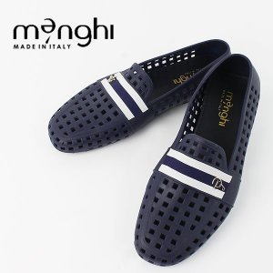 MENGHI メンギー メンズ ラバー ドライビングシューズ 4902 BLUE (ネイビー×ブルー×ホワイト)レビューを書いて送料無料|laglagmarket