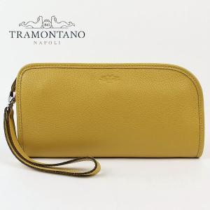 TRAMONTANO トラモンターノ メンズ カーフレザー ストラップ付 クラッチバッグ 1450 ALCE ANANAS (イエロー)レビューを書いて送料無料|laglagmarket