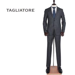 TAGLIATORE タリアトーレ メンズ SUPER110'Sウール ストライプ 2B シングル スーツ 2SVJ22B01 06RIA170 S3422 (グレー)レビューを書いて送料無料|laglagmarket