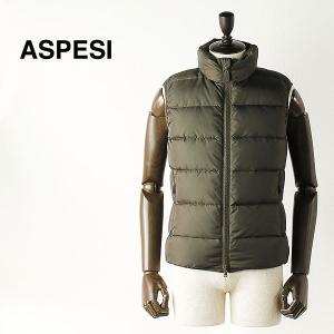 ASPESI アスペジ メンズ ナイロン ダウンベスト 1I58/7954/85 (オリーブ) レビューを書いて送料無料|laglagmarket