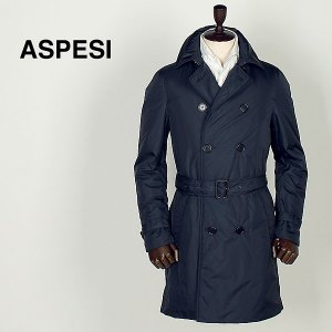 ASPESI アスペジ メンズ サーモア中綿 ナイロン トレンチコート 6I15/7954/85 (ネイビー) レビューを書いて送料無料|laglagmarket