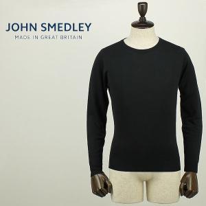 JOHN SMEDLEY ジョンスメドレー メンズ 日本別注モデル ウール ハイゲージ クルーネックニット A3835 (ブラック)レビューを書いて送料無料|laglagmarket