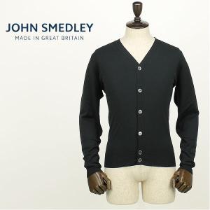JOHN SMEDLEY ジョンスメドレー メンズ 日本別注モデル ウール ハイゲージ ニットカーディガン A3833 (ブラック)レビューを書いて送料無料|laglagmarket