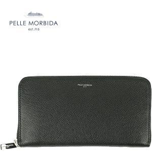 PELLE MORBIDA ペッレモルビダ 型押しレザー ラウンドジップ長財布 PMO-BA311 (ブラック)レビューを書いて送料無料|laglagmarket