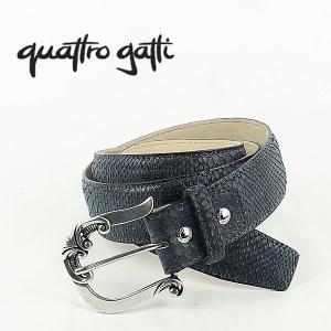 国内正規品 即日発送 QUATTRO GATTI クアトロガッティ パイソン レザーベルト 1806 (ブルー) laglagmarket