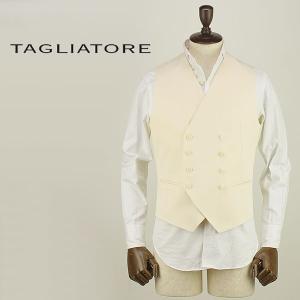 TAGLIATORE タリアトーレ メンズ 8B ダブルブレスト コットンジレ KLAUS/F B2UEZ003 A1095 (アイボリー)special priceAM|laglagmarket