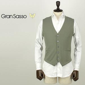 GRANSASSO グランサッソ メンズ コットンニット シングルジレ 57196/18196 485 (グリーン)special priceAM|laglagmarket