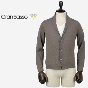 GRANSASSO グランサッソ メンズ 3B コットンニットジャケット 57186/20661 025 (ブラウン)special priceAM|laglagmarket