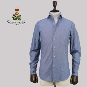 GUY ROVER ギ・ローバー メンズ コットン シャンブレーシャツ 2250W2410L 571406 01 (ネイビー)special priceAM|laglagmarket