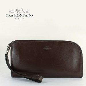 TRAMONTANO トラモンターノ メンズ スムースレザー クラッチバッグ 1450 NAUSICA MORO(ダークブラウン)レビューを書いて送料無料|laglagmarket