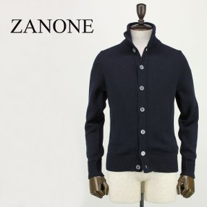 ZANONE ザノーネ メンズ ミドルゲージ ウール ニットブルゾン CHIOTO 810740 Z0229 Z1375 (ネイビー)レビューを書いて送料無料|laglagmarket
