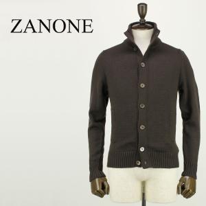 ZANONE ザノーネ メンズ ミドルゲージ ウール ニットブルゾン CHIOTO 810740 Z0229 Z5204 (ブラウン)レビューを書いて送料無料|laglagmarket