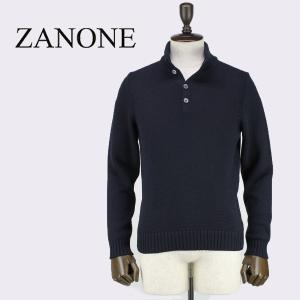 ZANONE ザノーネ メンズ ミドルゲージ ウールニット ボタン付き タートルネックセーター LUPO BOT 812028 Z0229 Z1375 (ネイビー)レビューを書いて送料無料|laglagmarket