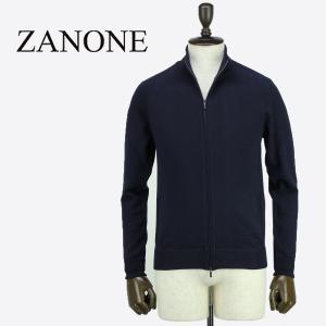 ZANONE ザノーネ メンズ ハイゲージ ウール スタンドカラー ジップアップ ニットブルゾン ZIP MART 812029 ZY274 Z1664 (ネイビー)レビューを書いて送料無料|laglagmarket
