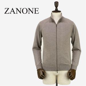 ZANONE ザノーネ メンズ ウール スタンドカラー ジップアップ ニットブルゾン ZIP MART 812029 ZY274 Z2873 (グレージュ)レビューを書いて送料無料|laglagmarket