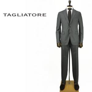 2017-18年秋冬新作 国内正規品 TAGLIATORE タリアトーレ メンズ SUPER120'S ウール 2B シングルスーツ 2SVJ22B11 07UIZ142 S1132 (グレー)|laglagmarket