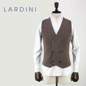 LARDINI ラルディーニ メンズ 6B ダブル ウール ニットベスト JJLGSM26/IE49031/420 (ブラウン)レビューを書いて送料無料|laglagmarket