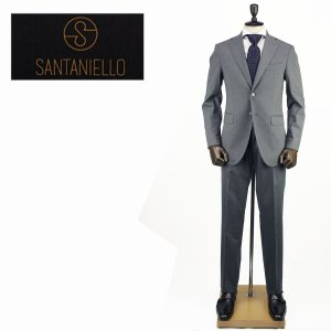 SANTANIELLO サンタニエッロ メンズ ウール ストレッチ 2B シングルスーツ V529/E1511/11/SAM 011 (ライトグレー)レビューを書いて送料無料|laglagmarket