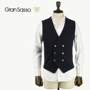 GRANSASSO グランサッソ メンズ ウールニット 6B ダブルジレ 56151/14252 099 (ブラック)レビューを書いて送料無料|laglagmarket