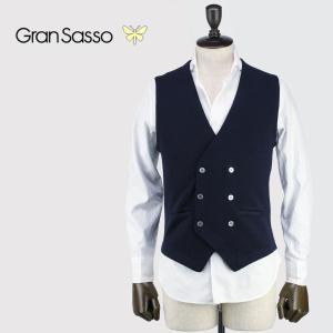 GRANSASSO グランサッソ メンズ ウールニット 6B ダブルジレ 56151/14252 598 (ネイビー)レビューを書いて送料無料|laglagmarket