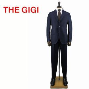 THE GIGI ザ・ジジ メンズ チェック柄 ピークドラペル ウール 2B シングルスーツ DEGAS/ALP G203 700 (ネイビー)レビューを書いて送料無料|laglagmarket