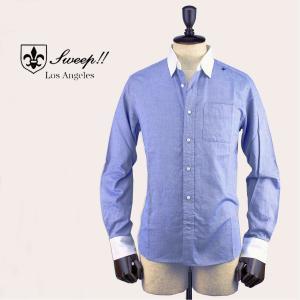 SWEEP!! スウィープ!! メンズ ロイヤルオックスフォード クレリックシャツ Royal OX Cleric Blue(ブルー)レビューを書いて送料無料|laglagmarket