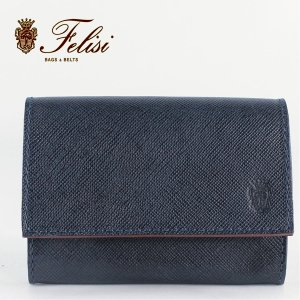 Felisi フェリージ サフィアーノ型押し エンボスレザー カードケース 名刺入れ 450/SI BLUE(ネイビー)レビューを書いて送料無料|laglagmarket