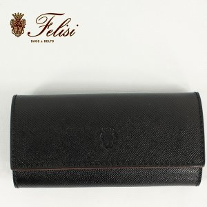 Felisi フェリージ サフィアーノ型押し エンボスレザー キーケース 921/SI BLACK (ブラック) レビューを書いて送料無料|laglagmarket